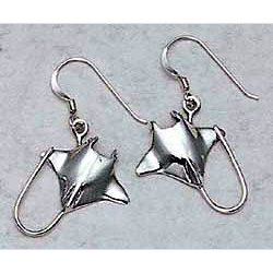 Stingray Earrings Sterling Silver