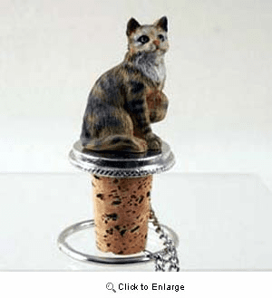 Tabby Cat Bottle Stopper (Brown)