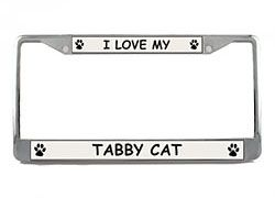 Tabby Cat License Plate Frame