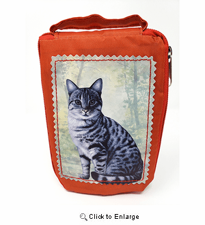 Tabby Cat Tote Bag - Foldable to Pouch