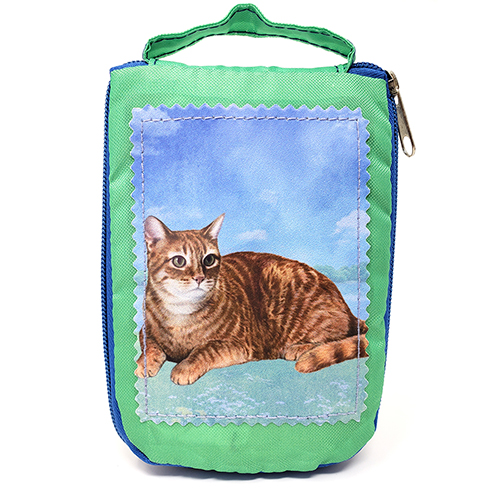 Tabby Cat Tote Bag Orange - Foldable to Pouch
