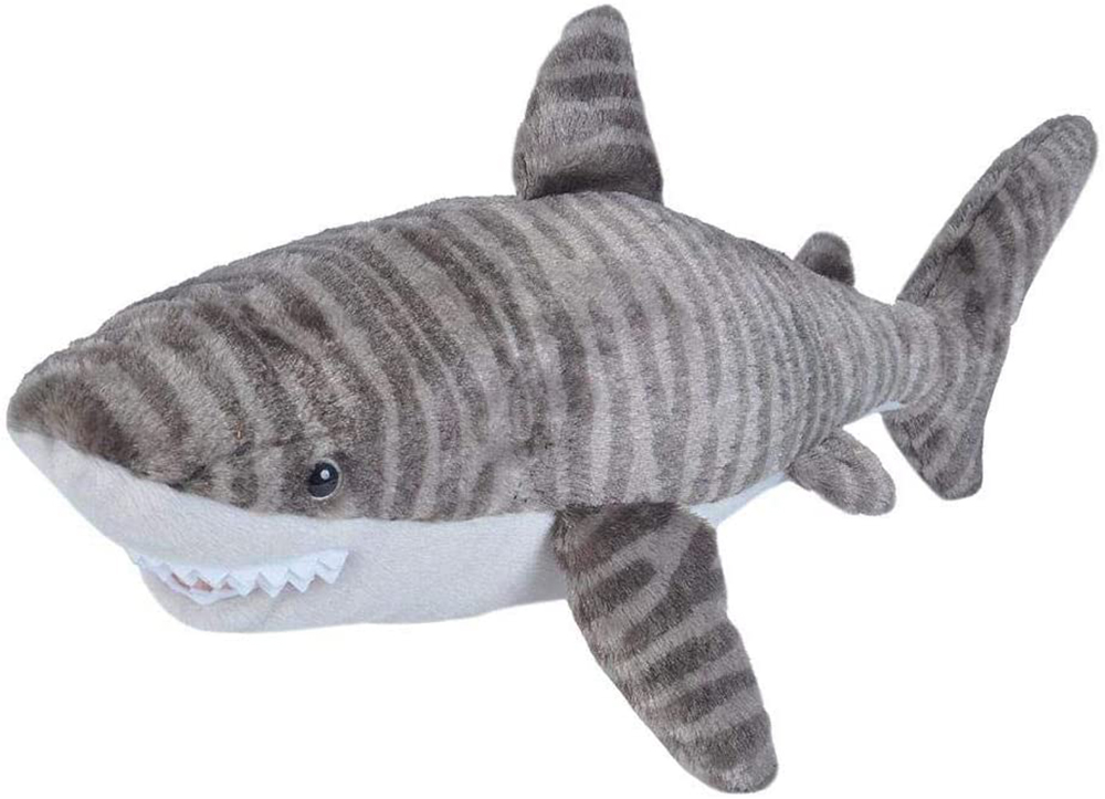 Wild Republic Tiger Shark Plush,  Cuddlekins 20 inches