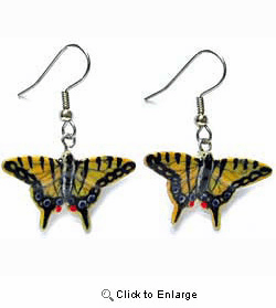 Tiger Swallow Tail Butterfly Earrings True to Life