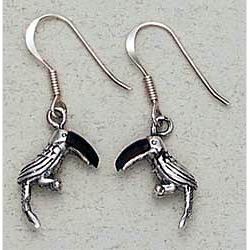 Toucan Earrings Sterling Silver