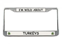 Turkey License Plate Frame