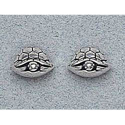 Turtle Earrings Sterling Silver Stud