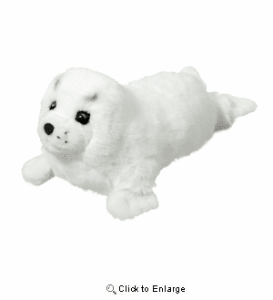 """""""Twinkle"""" Harp Seal Pup  15"""" by Douglas Toy"""