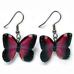 Violet Morpho Butterfly Earrings True to Life
