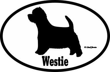 West Highland Bumper Sticker Euro