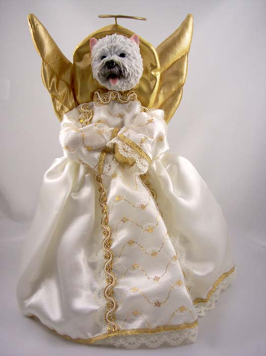 West Highland Terrier Angel Christmas Tree Topper