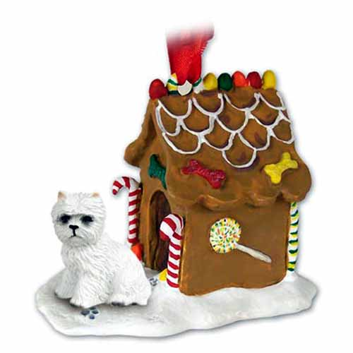 West Highland Terrier Gingerbread House Christmas Ornament