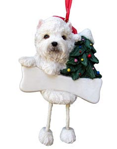 West Highland Terrier Christmas Tree Ornament - Personalize