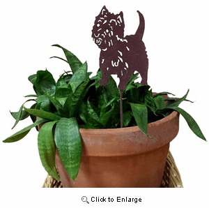 West Highland Terrier Plant Stake