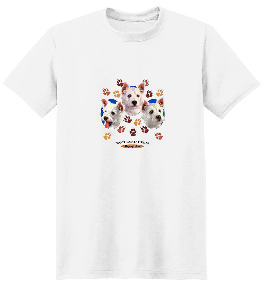 West Highland Terrier T-Shirt - Puppies and Paws