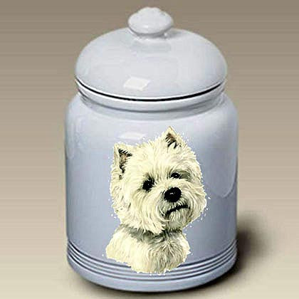 West Highland Terrier Treat Jar