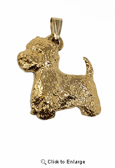 Westie  24K Gold Plated Pendant