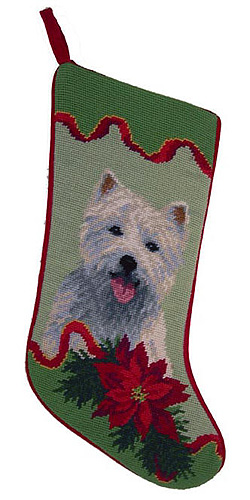 Westie Christmas Stocking