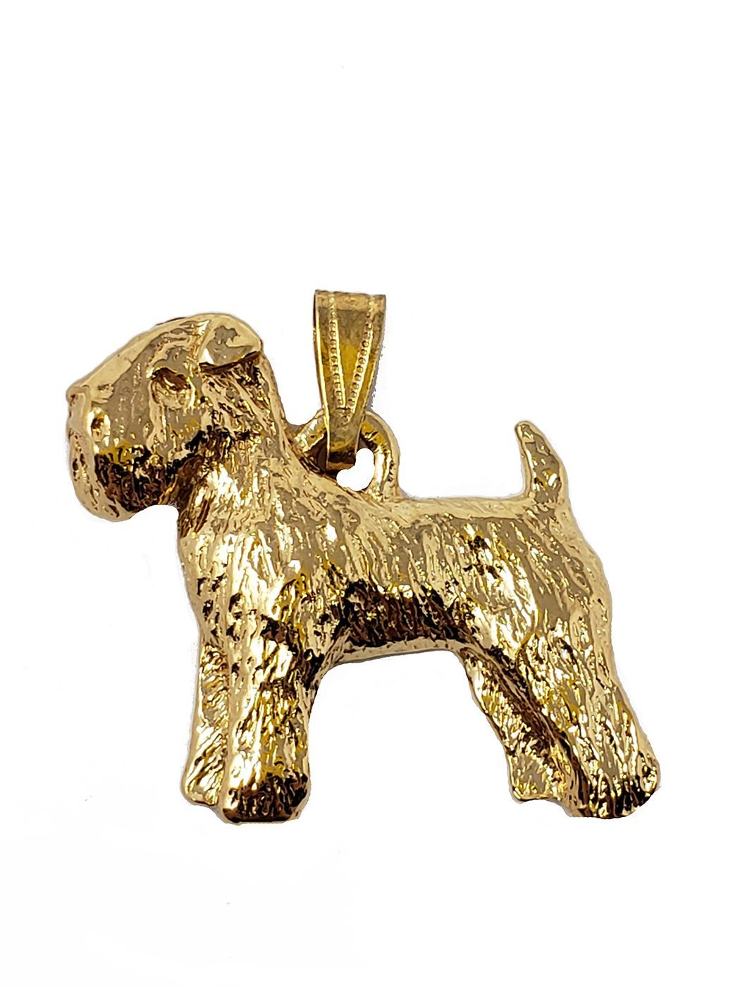 Wheaten Terrier 24K Gold Plated Pendant