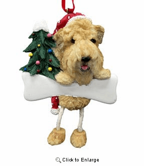 Wheaten Terrier Christmas Tree Ornament - Personalize
