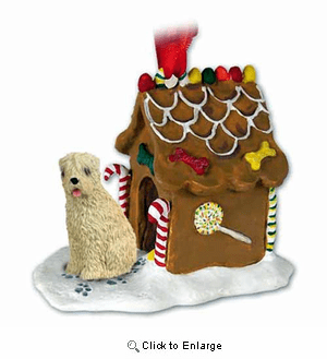 Wheaten Terrier Gingerbread House Christmas Ornament