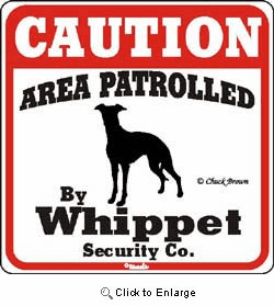 Whippet Caution Sign