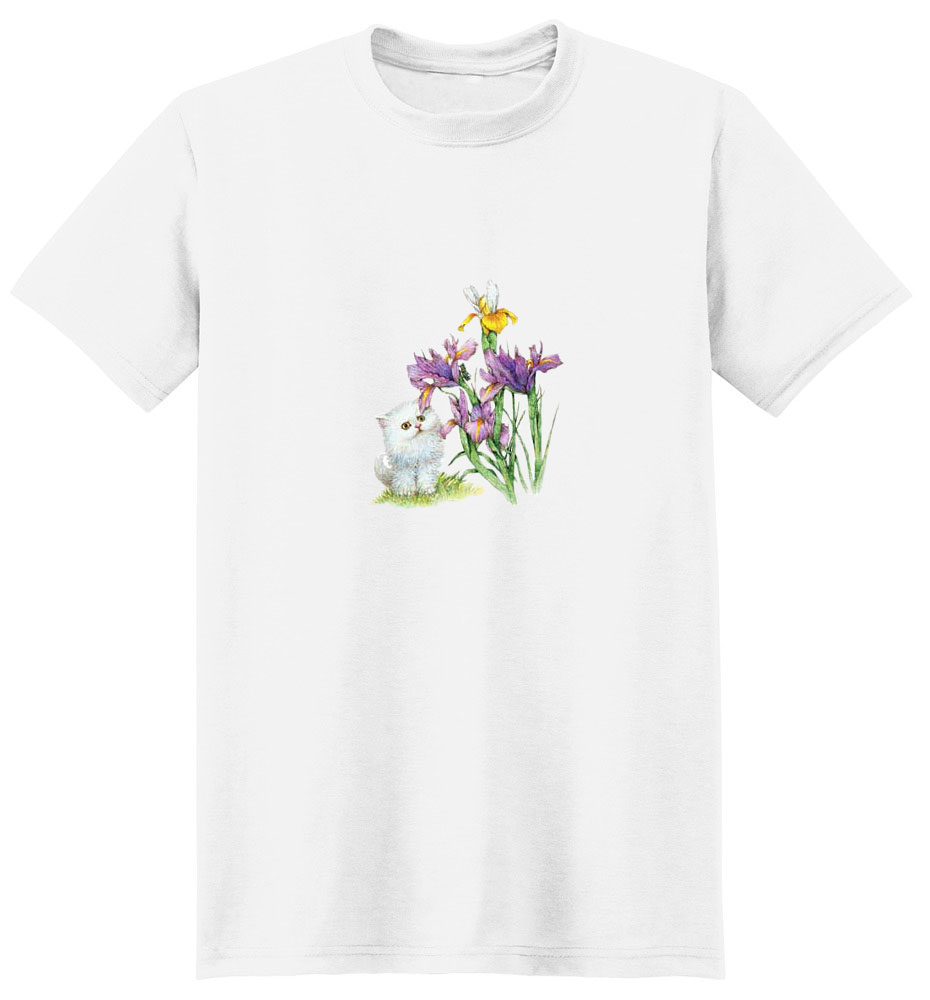 White Cat T-Shirt - Beautifully Colored
