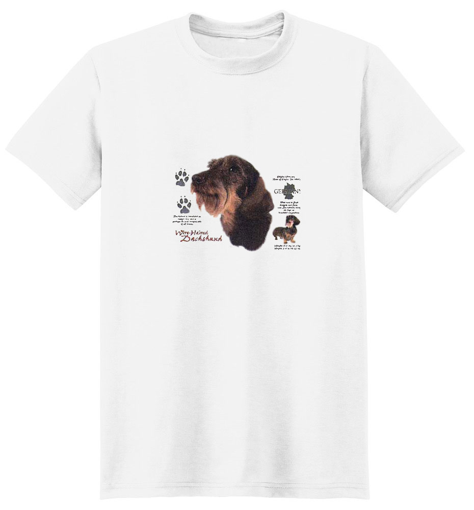 Wirehair Dachshund T-Shirt - History Collection