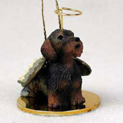 Wirehaired Dachshund Christmas Ornament Angel