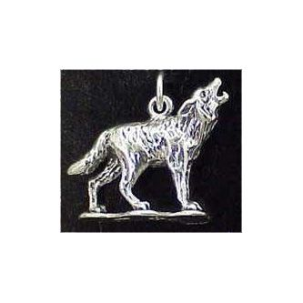 Wolf Sterling Silver Charm