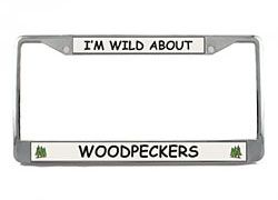 Woodpecker License Plate Frame