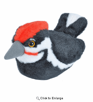 Woodpecker Plush Animal with sound 5""