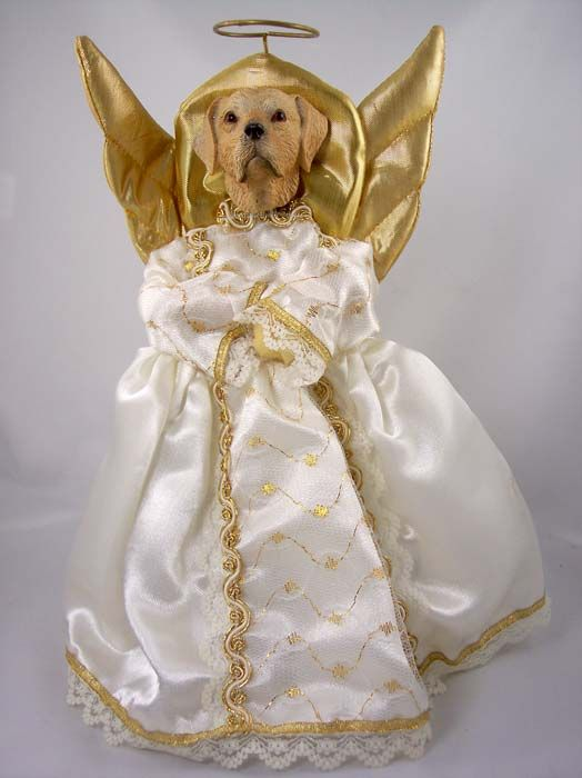 Yellow Lab Angel Christmas Tree Topper