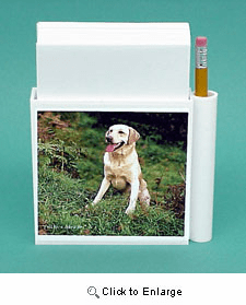 Yellow Lab Hold-a-Note