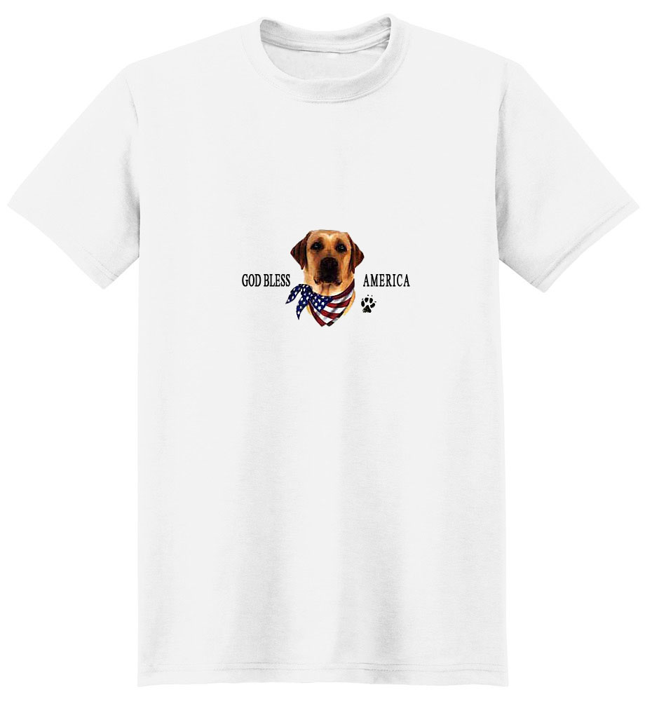 Yellow Lab T-Shirt - American Dog
