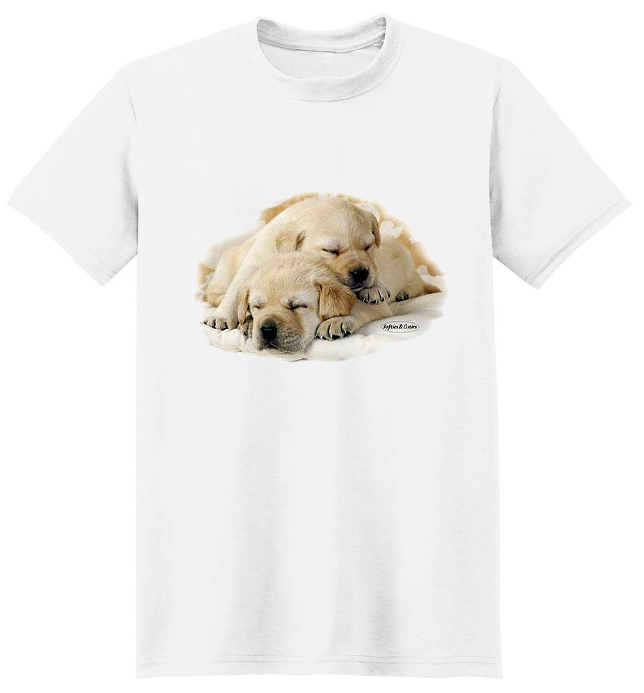 Yellow Lab T Shirt Eddy & Friend