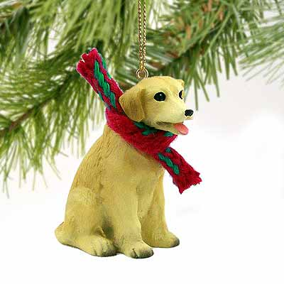 Yellow Lab Tiny One Christmas Ornament