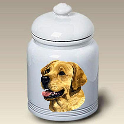 Yellow Lab Treat Jar