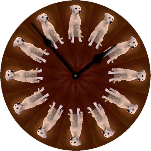Yellow Labrador Wall Clock