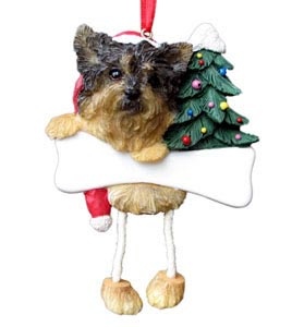 Yorkie Christmas Tree Ornament - Personalize (Puppy Cut)