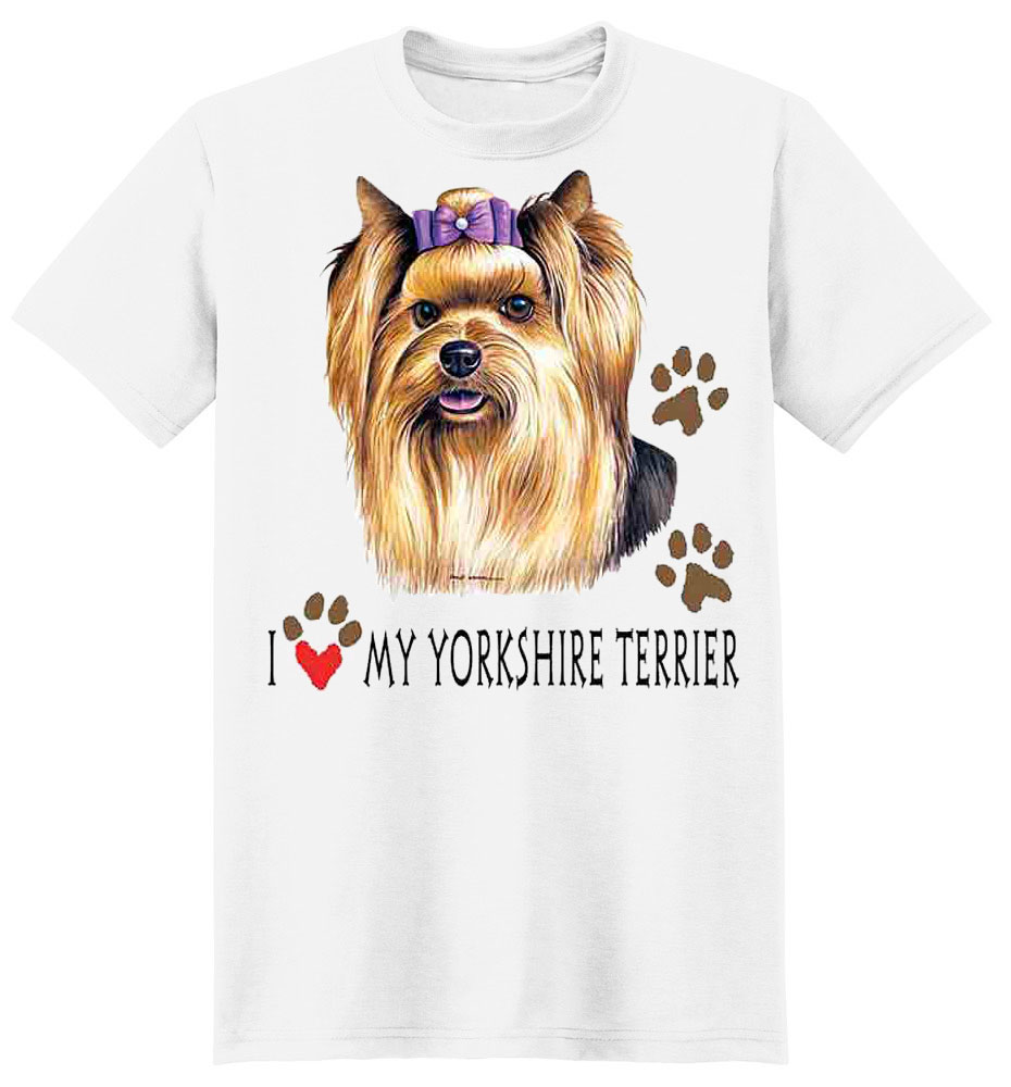 Yorkie T-Shirt - I Love My