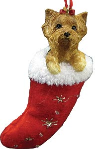 Yorkshire Terrier (Puppy Cut) Christmas Stocking Ornament