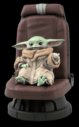 Star Wars : The Mandalorian <br> The Child in Chair <br> 1/2 Scale Statue
