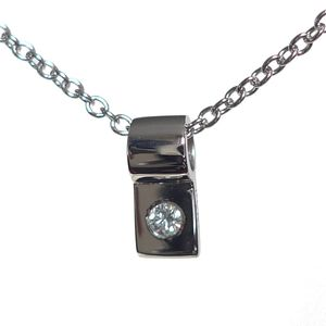 Platinum Diamond Slide Necklaces
