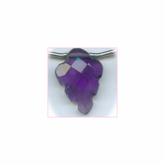 Amethyst Faceted Carved Leaf AA