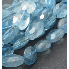 Aqua Faceted Oval 6x6 mm to 8x8 mm
