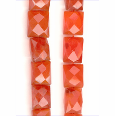 Carnelian Emerald Cut 8x8 mm to 10x10 mm