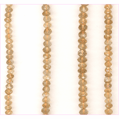 Citrine Faceted Coin 4x4 mm to 8x8 mm