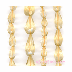 Citrine Faceted Drops 5x7 mm to 6x8 mm