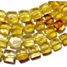 Citrine Faceted Square 5x5 mm to 6x6 mm