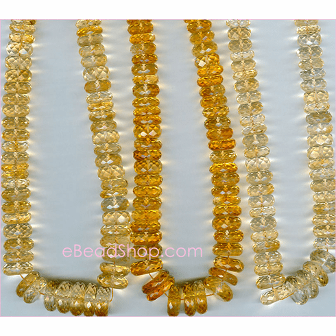 Citrine Facetted Tyre<br>10 to 12 mm